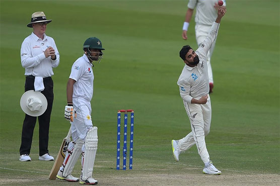 Pakistan play steadily in first Test against New Zealand