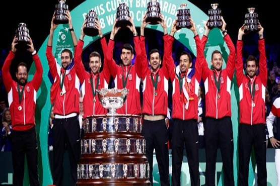 Davis Cup final: Marin Cilic beats Lucas Pouille as Croatia claim title