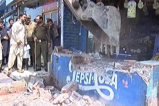 Shops, buildings demolished in Gujranwala under anti-encroachment drive