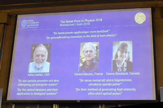 Nobel Prize in Physics jointly awarded to trio of laser physics inventors