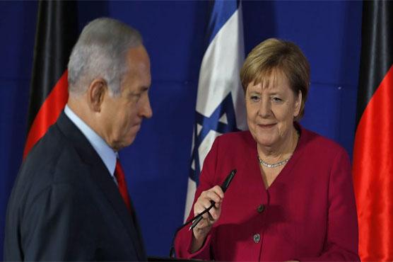 Merkel visits Israel, vows to fight anti-Semitism