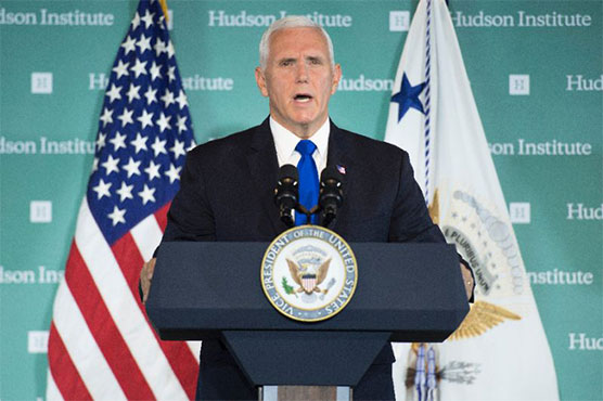 Pence paints China as enemy in US election