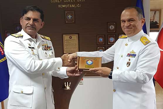 Pak Navy ship visits Aksaz to participate in exercises