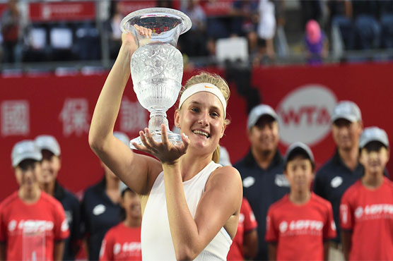 Dayana Yastremska beat Wang Qiang 6-2 6-1 to claim Hong Kong Open title