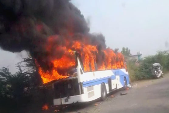 Bhalwal: Students among 10 killed in bus-van collision