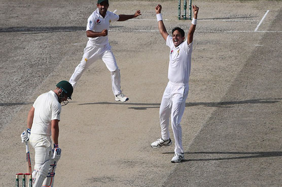 Pakistan's Azhar Ali falls to the most freaky  run out you'll see