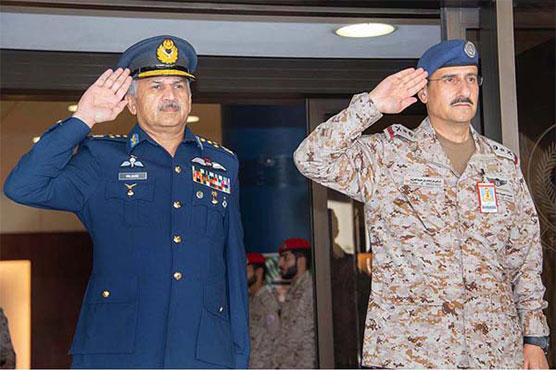 Air Chief visits Saudi Air Force HQ