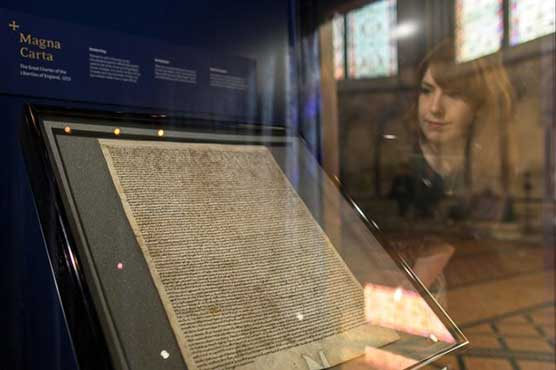 Man held after attempted theft of Magna Carta from UK cathedral