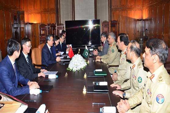 Chinese delegation calls on COAS Gen Qamar Javed Bajwa