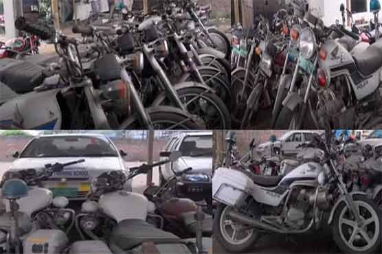 PTI police reforms: abandoned police vehicles wait for govt. ownership