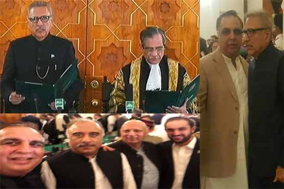 In pictures: Another historic day for PTI as Arif Alvi clings to Presidency
