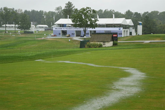 Justin Rose leads rain-delayed BMW Championship