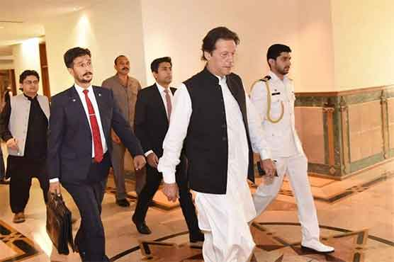 PM Imran gets security briefing at ISI headquarters