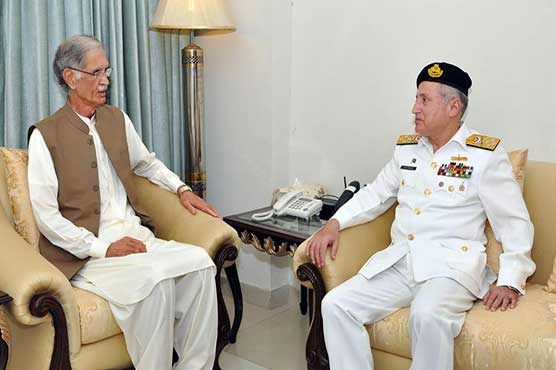 Naval Chief calls on defence minister