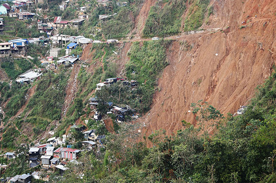 Typhoon Mangkhut: Families seeking refuge buried by landslide