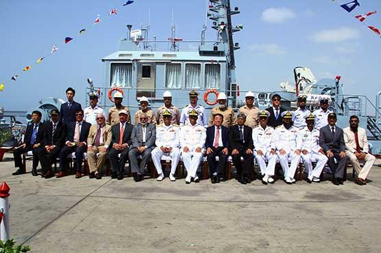 Karachi shipyard hands over indigenously built 32 t bollard pull tug to Pakistan Navy