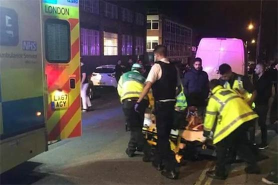 Car hits pedestrians outside UK mosque in suspected hate crime