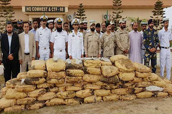 Pakistan Navy seizes hashish worth millions of dollars