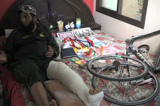Cyclist lost legs in an accident after the Dam Fund Raising Cycling Marathon