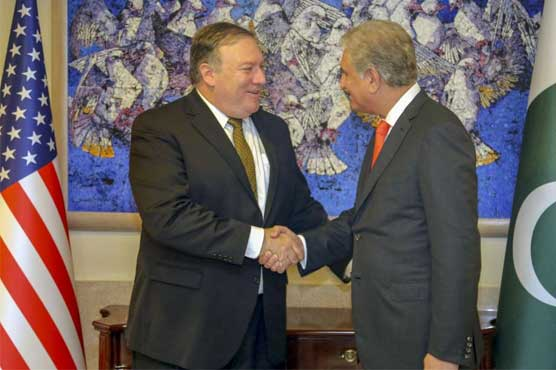 FM Qureshi, Mike Pompeo disscuss Afghan peace process, regional stability