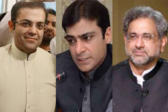 Govt decides to place names of Abbasi, Hamza, Suleman Shahbaz on ECL