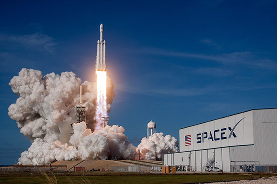 The Falcon Heavy is scheduled to lift off from the Kennedy Space center in Florida at 2236 GMT