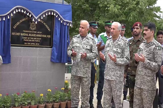 Air Chief lays foundation stone of PAF airmen academy
