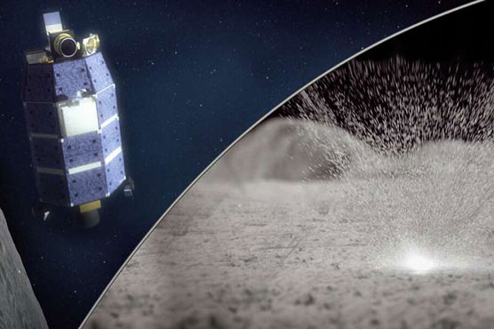 Meteorite strikes can eject water from moon