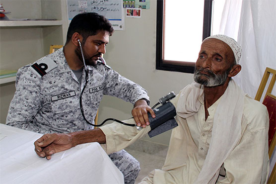 Pakistan Navy establishes free medical camp at Keti Bandar