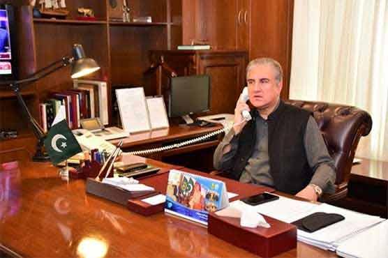 FM Qureshi telephones French FM, discusses Kashmir dispute