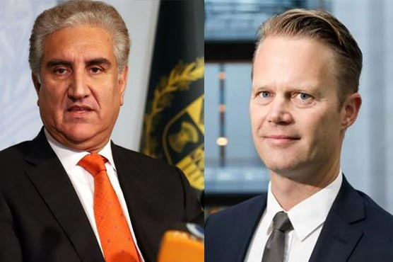 FM Qureshi asks Danish counterpart to play role for resolution of Kashmir issue