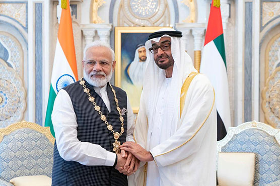 UAE honouring Modi reflects non-concern over human rights