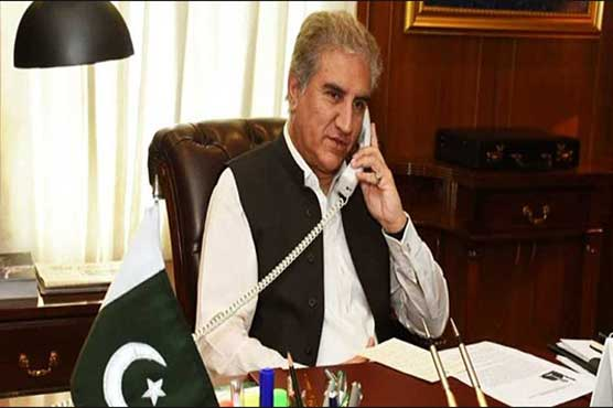 FM Qureshi discusses Kashmir matter with NZ's deputy PM Winston Peters