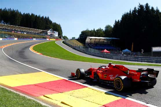 Vettel fastest in 1st practice session for the Belgian GP