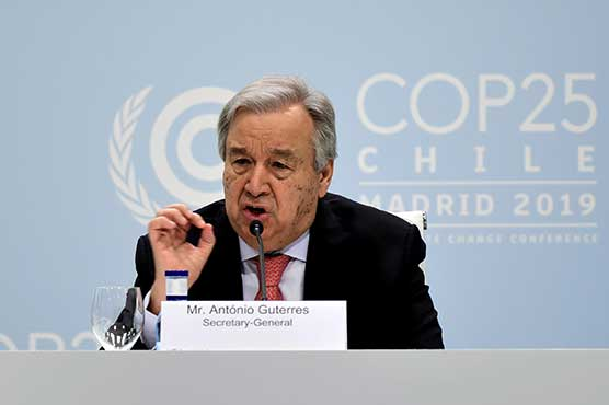 UN chief says humanity's 'war against nature' must stop