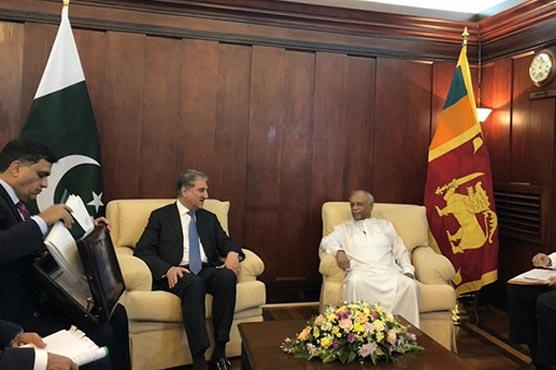 Colombo: FM Qureshi meets Sri Lankan counterpart, discusses bilateral matters