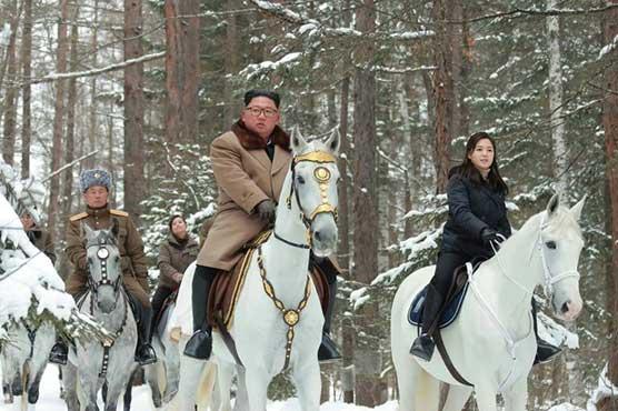 North Korea's Kim in new horse ride through winter snows