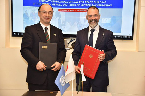 Japan-UNDP signs accord $3.5 million for police reform in erstwhile FATA