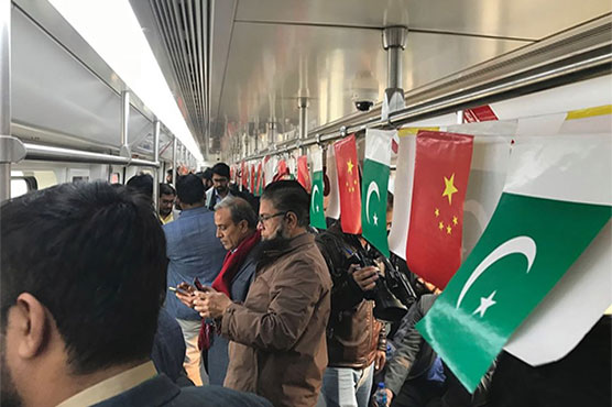 Much-awaited Orange Line Metro Train goes for test run in Lahore
