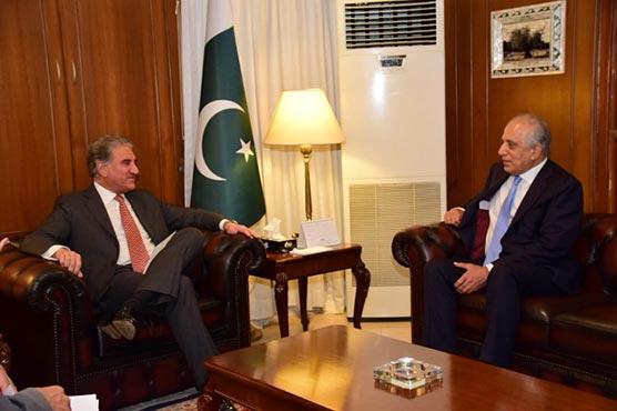 Zalmay Khalilzad, FM Qureshi discuss Afghan peace process