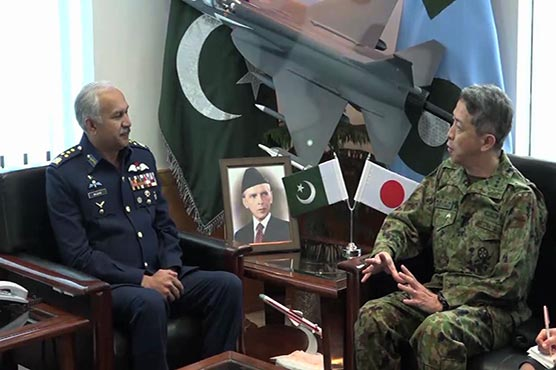Japan's Vice Chief of Joint Staff calls on Air Chief in Islamabad