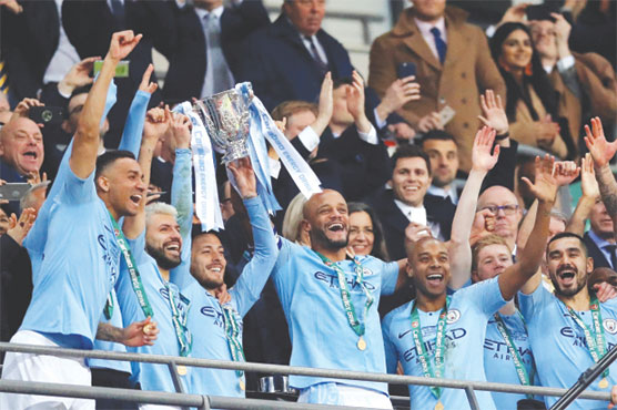 Man City win League Cup final marked by Chelsea keeper controversy ...