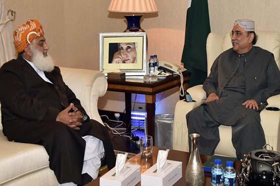 Fazl meets Zardari again to bring PPP, PML-N leadership closer
