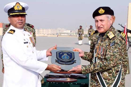 Pakistan Navy Coastal Command annual efficiency parade held at PNS Qasim