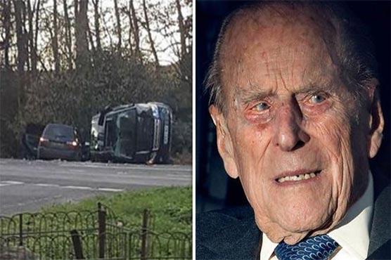 Britain's Prince Philip involved in car crash near Sandringham state
