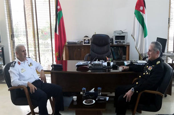 Naval Chief meets Jordanian Naval and Air Force commanders