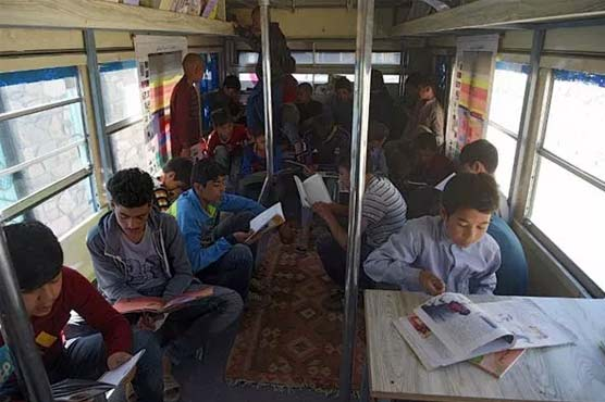 Library bus brings books and dreams to Afghan children