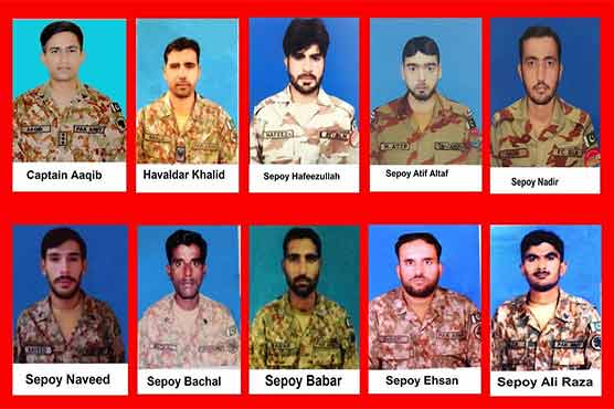Ten Pakistan Army soldiers martyred in terrorist attacks in North Waziristan, Balochistan