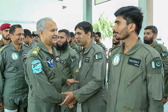 Air chief celebrates Eid with PAF personnel at operational air base