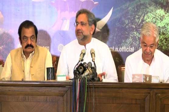 PM's post budget speech was based on threats, abuses: Shahid Khaqan Abbasi